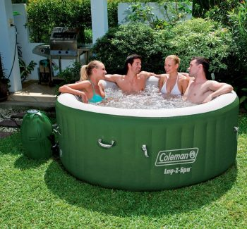 Coleman Lay-Z-Spa Inflatable 4-Person Hot Tub with Six Filter Cartridges