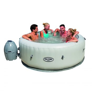 SaluSpa Paris AirJet Inflatable Hot Tub with LED Light Show