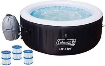 "Coleman 71"" X 26"" Inflatable Spa Hot Tub with 6 Filter Cartridges"