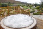 what causes foaming in a hot tub