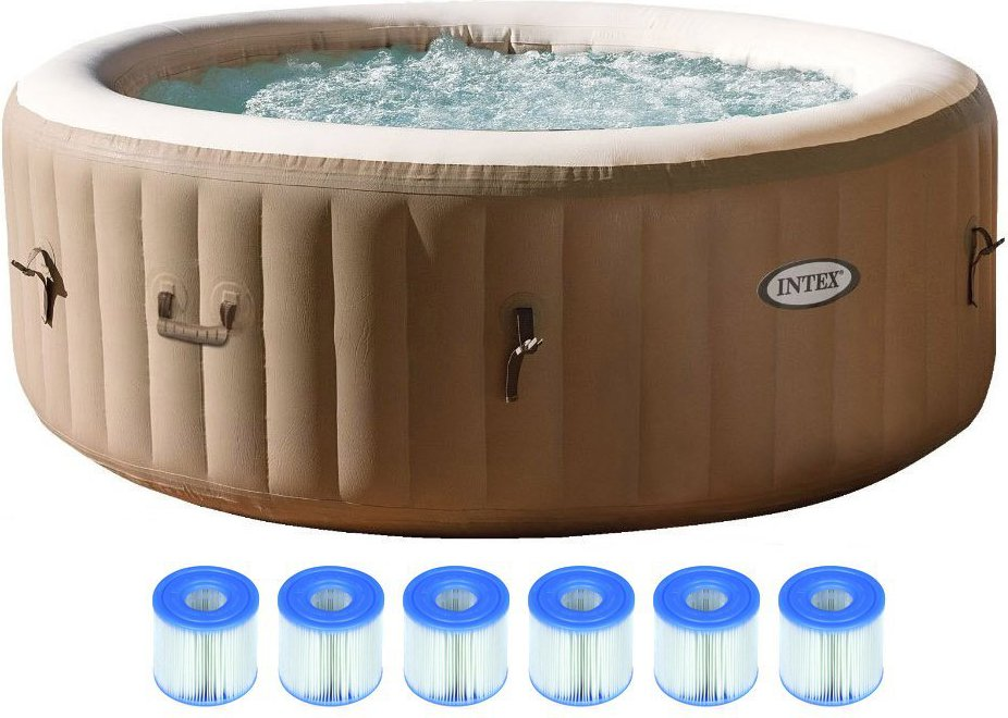 intex pure spa 4 person inflatable portable hot tub hot. Black Bedroom Furniture Sets. Home Design Ideas