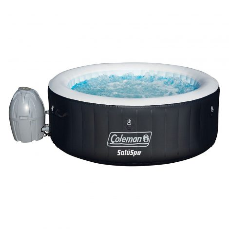 Coleman SaluSpa 4 Person Portable Blow Up Outdoor Spa Hot Tub