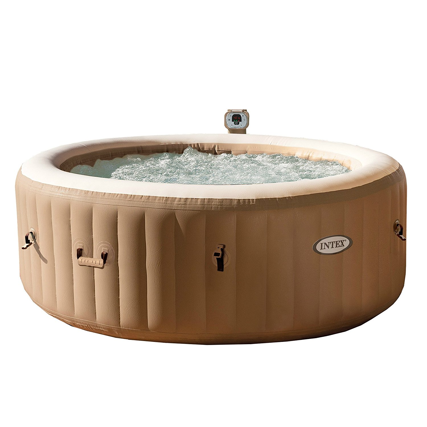 intex 77in purespa portable blow up hot tub with bubble massage spa set hot tub digest. Black Bedroom Furniture Sets. Home Design Ideas