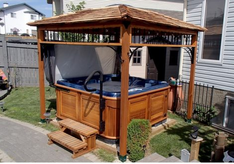 enclosure for hot tub