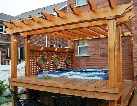 hot tub wooden closure idea