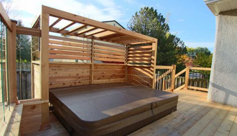 hot tub wooden enclosures