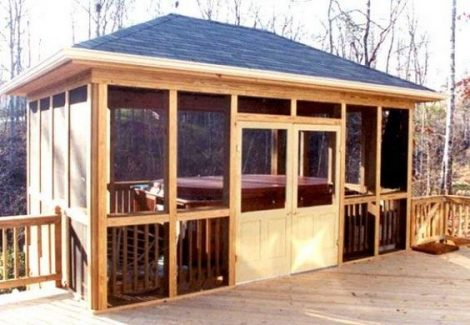 Screened Hot Tub Enclosure