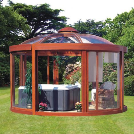 Outdoor Hot Tub Enclosure Ideas