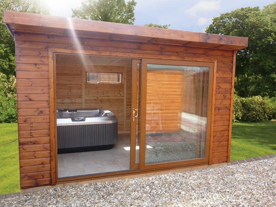 sliding hot tub enclosures hot tub digest. Black Bedroom Furniture Sets. Home Design Ideas