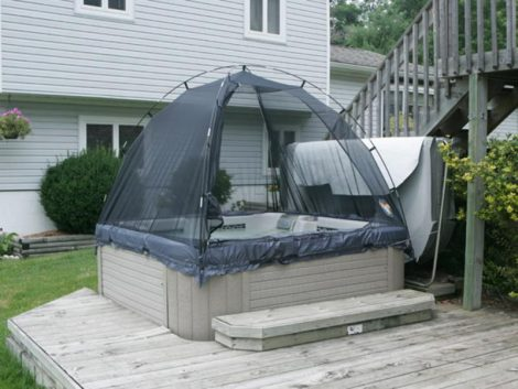 spa hot tub enclosure